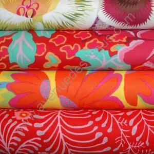 Lot de 4 coupons tissus orange - Avenue des Tissus
