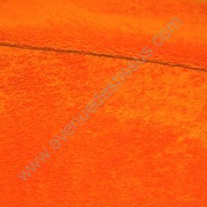 Tissus doudou orange